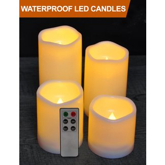 Battery Operated Candles With Timer Visual Hunt
