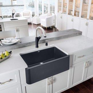 """Ikon 29.32"""" L x 18.25"""" W Farmhouse Kitchen Sink"""
