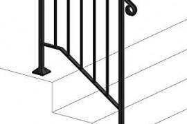 Outdoor Metal Stair Railing Kits