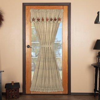 Lydia Star Door Solid Color Rod Pocket Single Curtain Panel