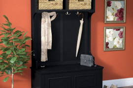Entryway Bench and Coat Rack