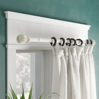 Moriarty Adjustable Single Drapery Curtain Rod & Hardware Set