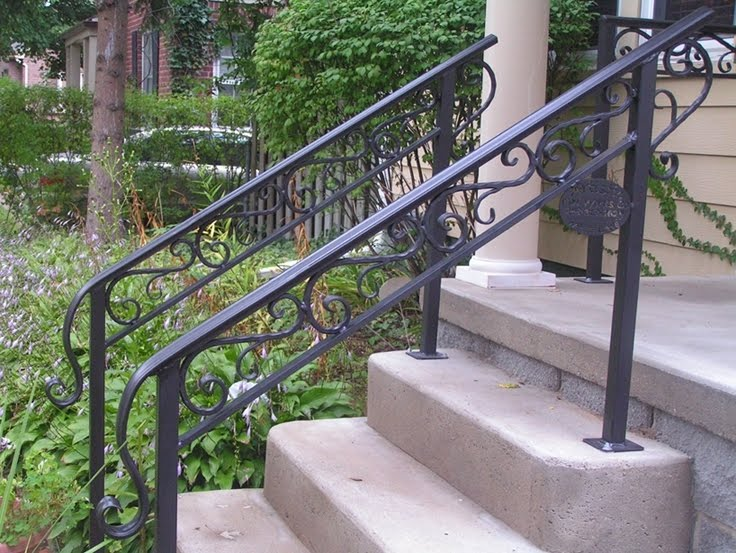 Outdoor Metal Stair Railing Kits You Ll Love In 2021 Visualhunt