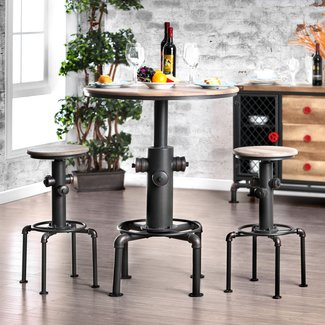 Poncha 3 Piece Pub Table Set