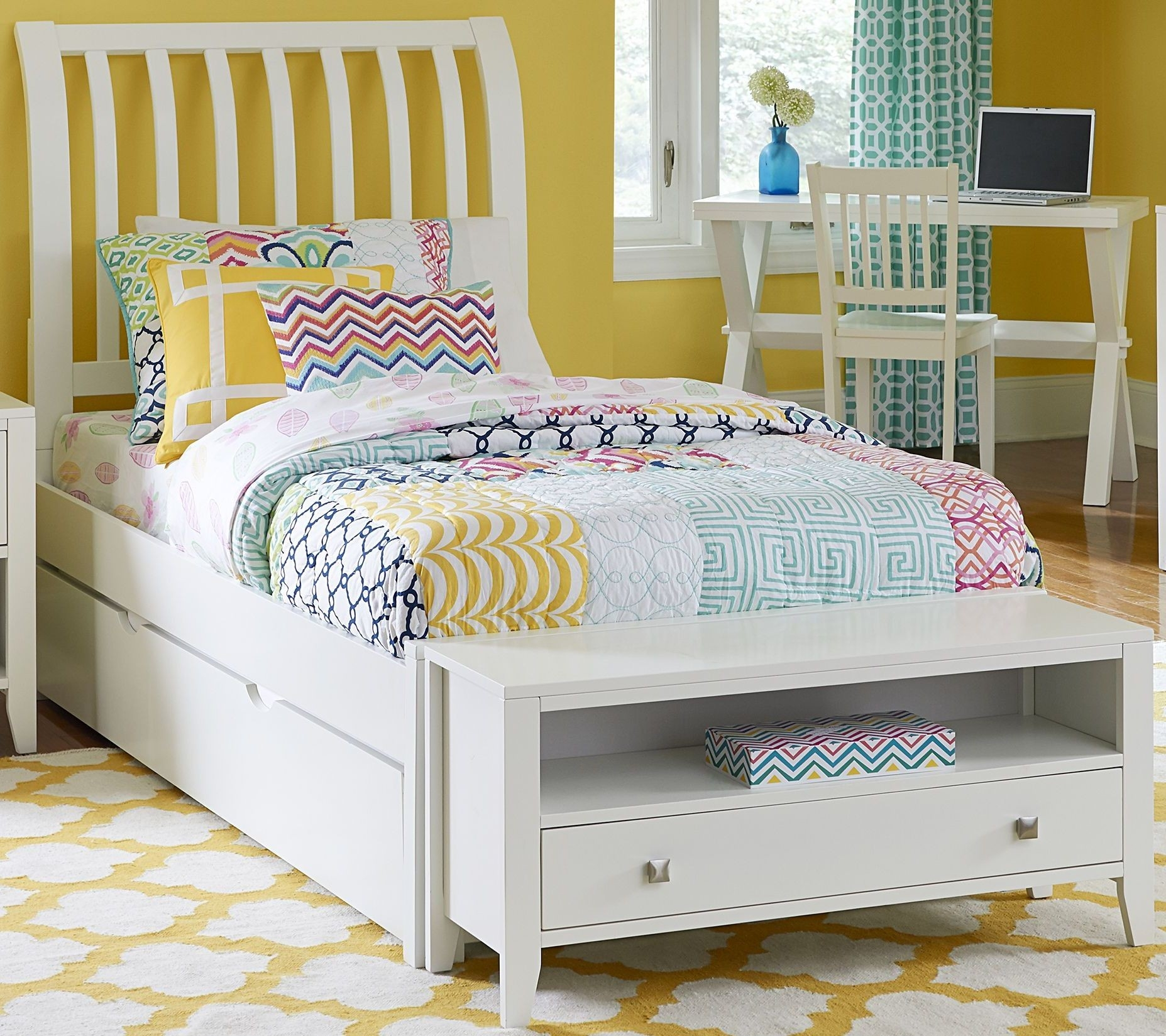 White Twin Bed With Storage You Ll Love In 2020 Visualhunt