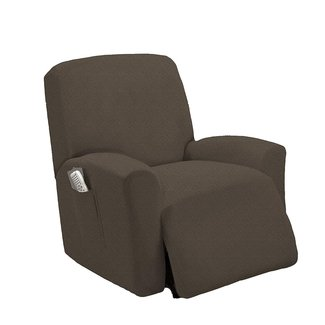 Queen Linens One Piece Stretch Recliner Slipcover, Stretch Fit Furniture Chair Recliner Lazy Boy Cover Slipcover, Estella