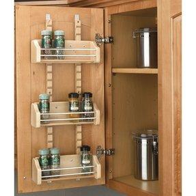 Door Mount Spice Rack Visualhunt, Spice Rack For Kitchen Cabinet Door