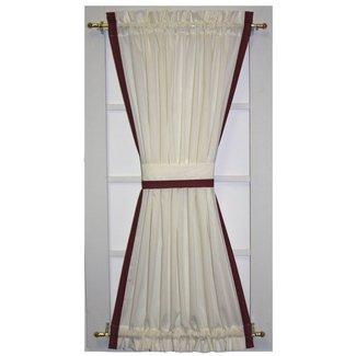 Rosenberry Banded Edge Door Panel Curtain