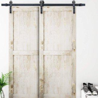 Sliding Single Track Bypass Double Door Classic Design Barn Door Hardware