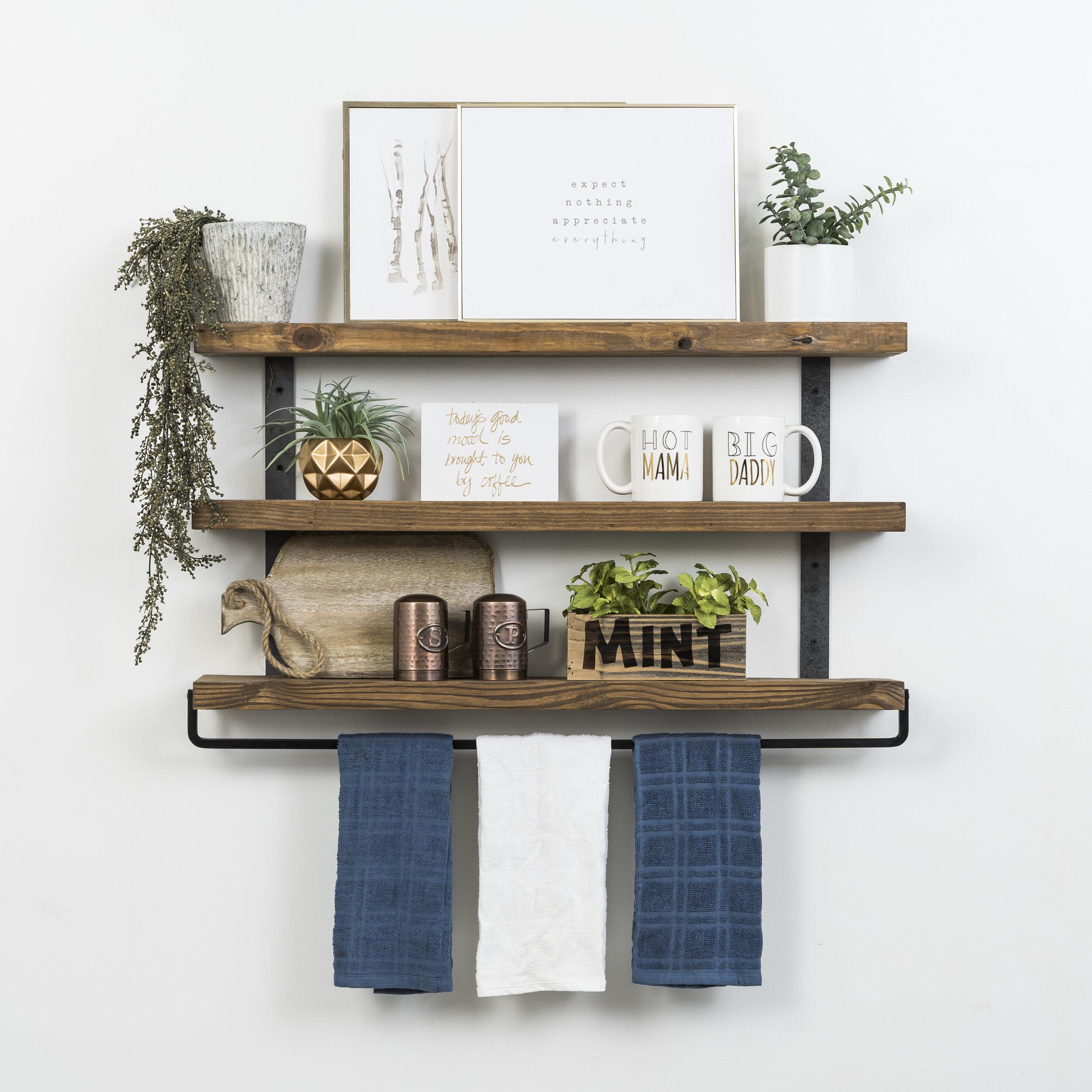 Bathroom Shelf With Towel Bar You Ll, Bathroom Shelves With Towel Bar Ideas