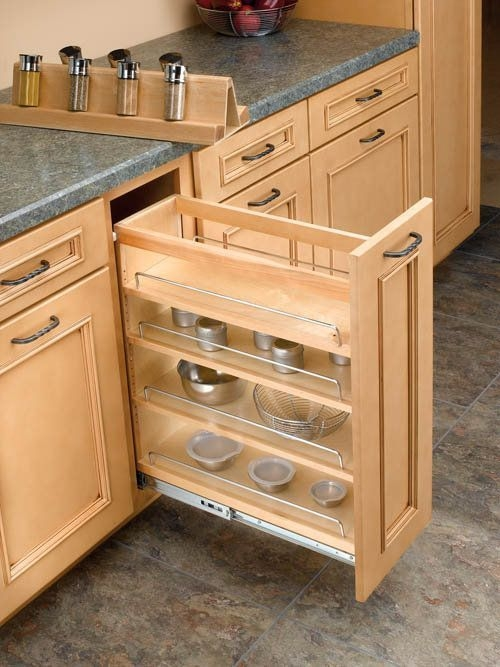 Pull Out Spice Rack You Ll Love In 2021, Kitchen Cabinets Pull Out Spice Rack
