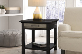 Side Table With Charging Station