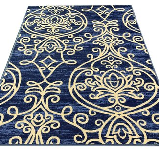 Toccoa Trendy Non Skid Rubber Backed Multicolor Area Rug