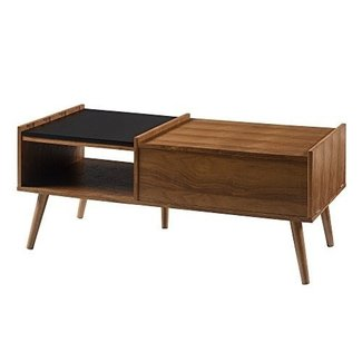 Versanora - Bloccare Coffee Table - Walnut/Black