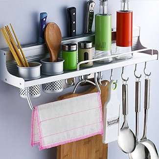 50+ Wall Mounted Kitchen Shelves You\'ll Love in 2020 ...