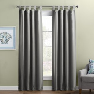 Wayfair Basics Solid Blackout Thermal Tab Top Single Curtain Panel