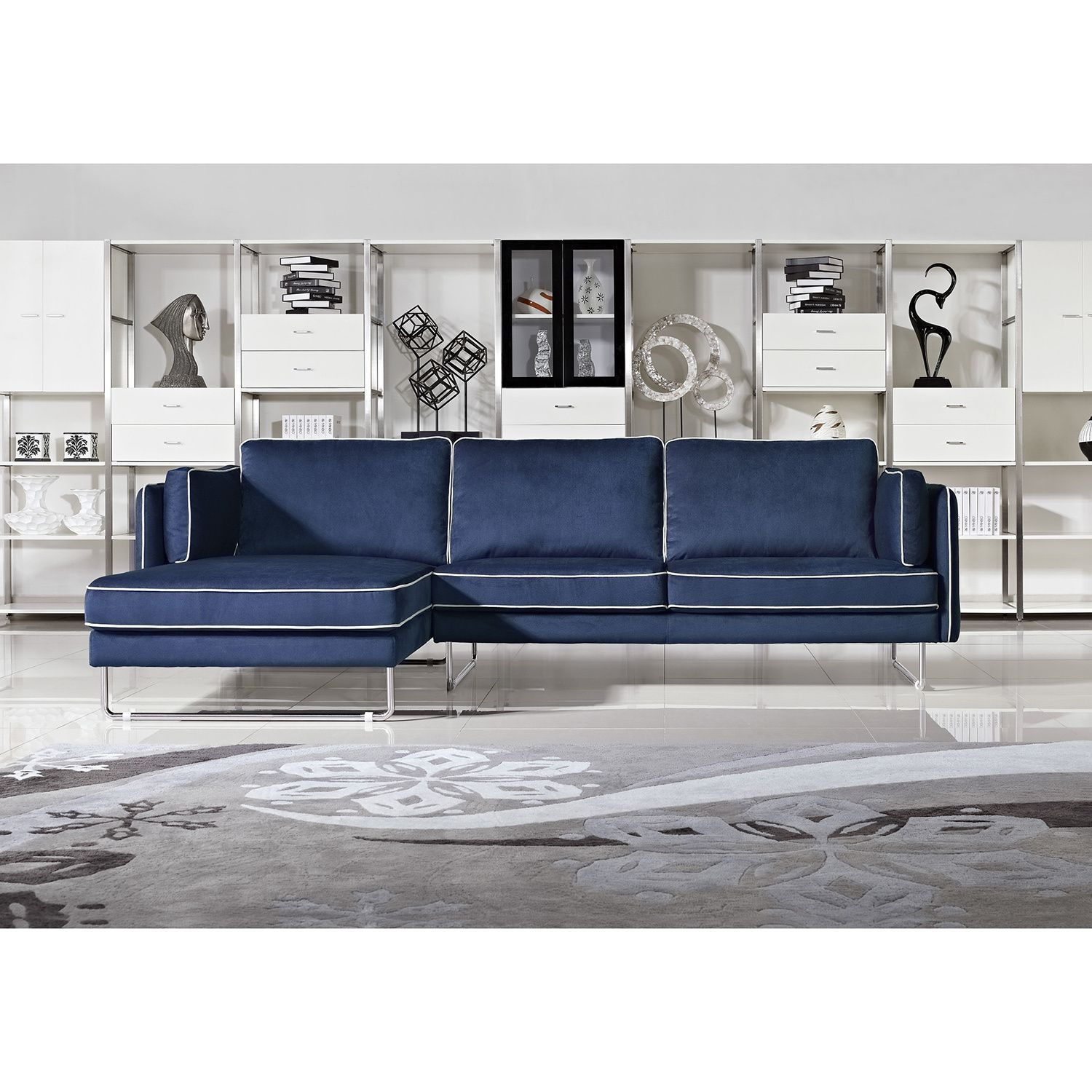 Picture of: Navy Blue Sectional Couch You Ll Love In 2020 Visualhunt