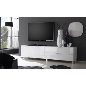 50 White High Gloss Tv Stand Youll Love In 2020 Visual Hunt