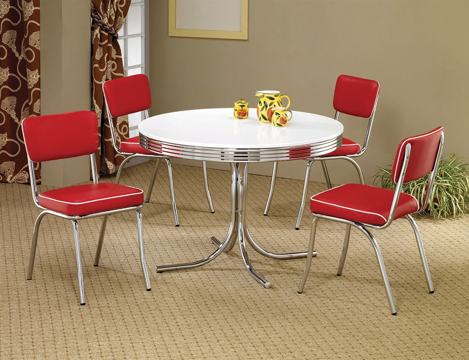 Retro Kitchen Table And Chairs You Ll, 50s Dining Room Furniture