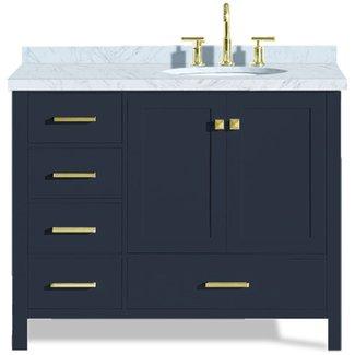 Stupendous Right Offset Bathroom Vanity Visual Hunt Home Interior And Landscaping Spoatsignezvosmurscom