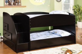 Low Bunk Bed with Stairs