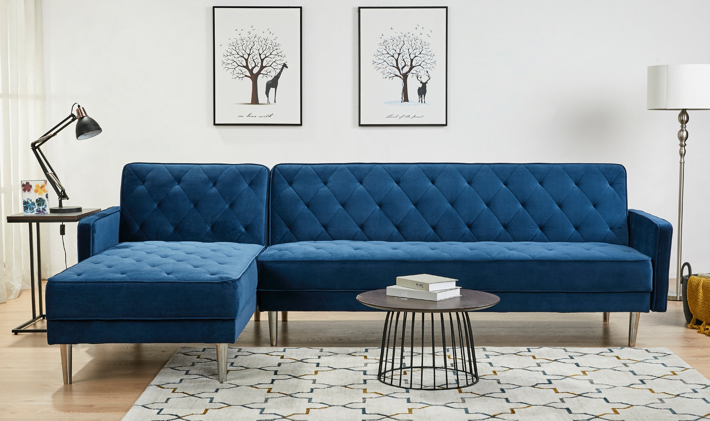 Navy Blue Sectional Couch You Ll Love In 2021 Visualhunt