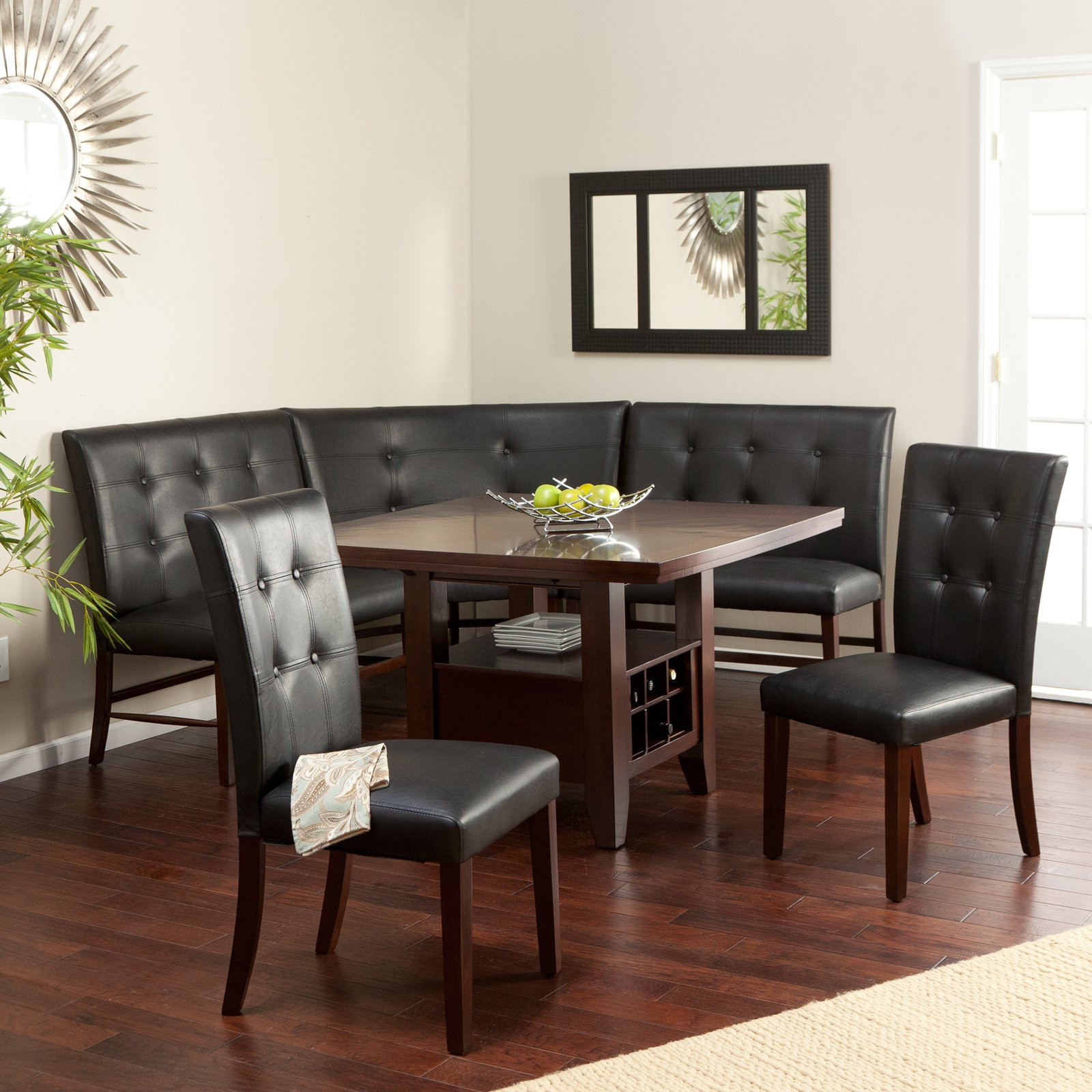 Corner Booth Dining Sets Visualhunt, Booth Dining Room Table