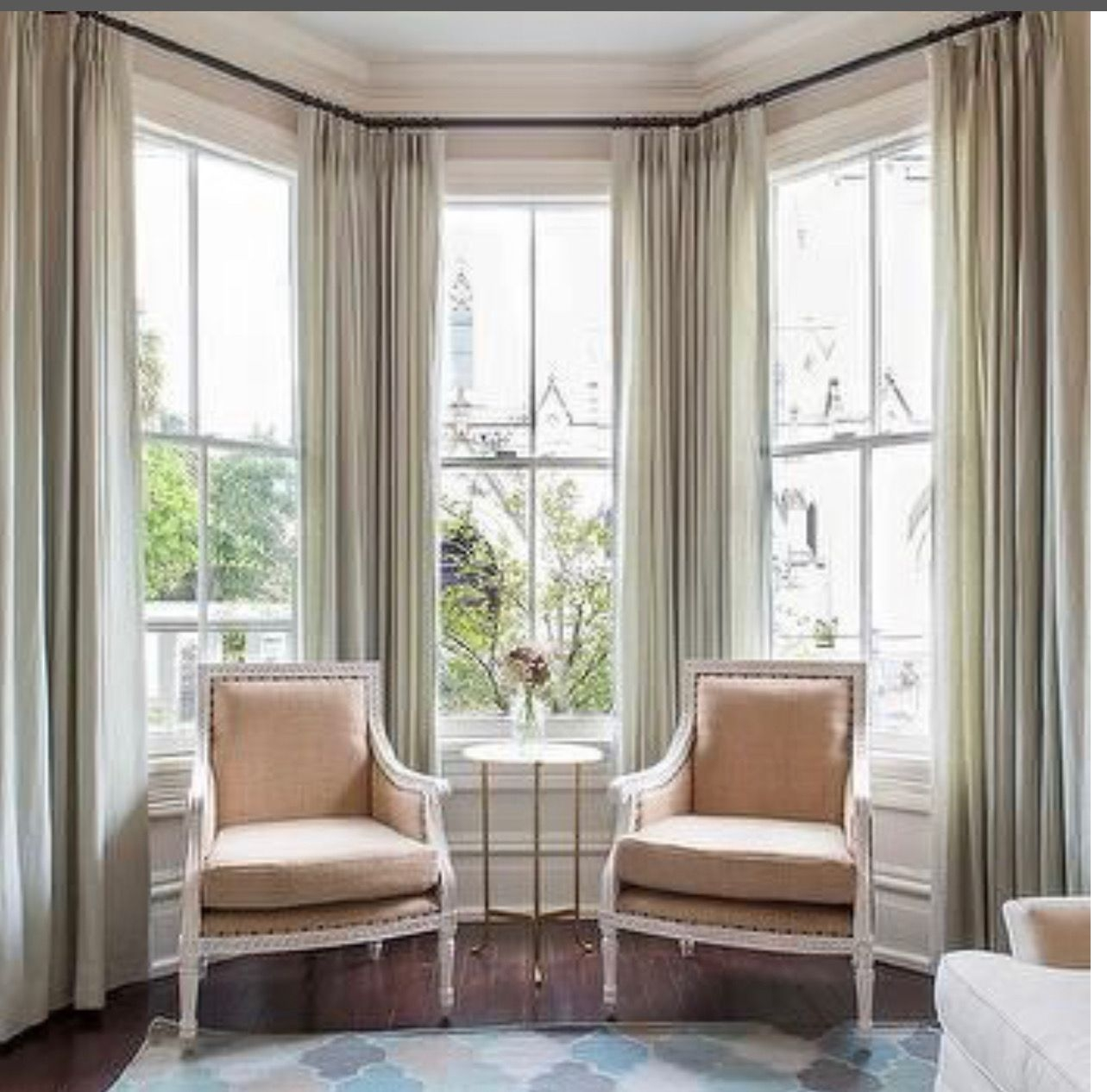 Curtains For Bay Windows You Ll Love In, Curtain Ideas For Bay Windows In Living Room