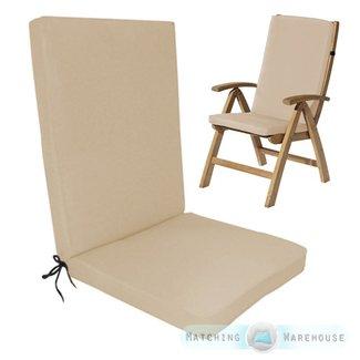 Fabulous Highback Outdoor Chair Cushion Visual Hunt Beutiful Home Inspiration Aditmahrainfo