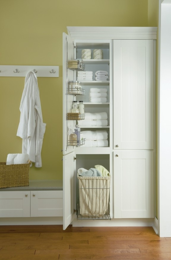 Linen Cabinet With Hamper You Ll Love In 2021 Visualhunt