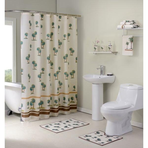 Palm Tree Bath Set You Ll Love In 2021, Palm Tree Shower Curtains Bath Accessory Sets