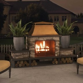 Outdoor Wood Burning Fireplace You Ll Love In 2020 Visualhunt