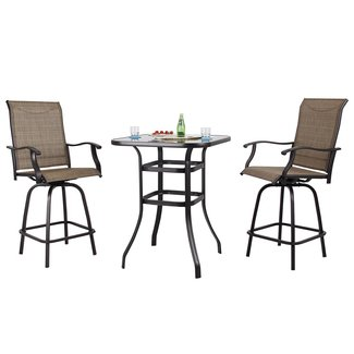 Groovy 50 Bar Height Bistro Set Youll Love In 2020 Visual Hunt Andrewgaddart Wooden Chair Designs For Living Room Andrewgaddartcom