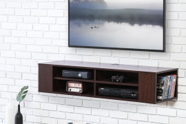 Floating Shelves for DVD Player