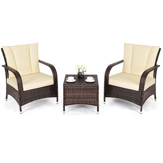50 3 Piece Wicker Patio Set You Ll Love In 2020 Visual Hunt
