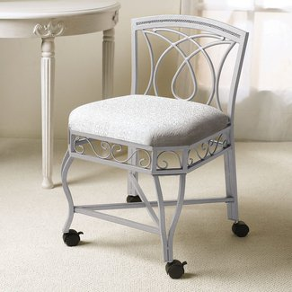 Vanity Chair With Wheels You Ll Love In 2021 Visualhunt