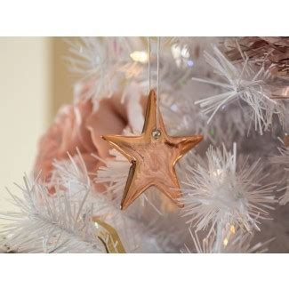 white christmas tree with stylish rose gold and pink