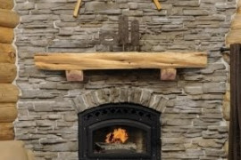 Live Edge Fireplace Mantel