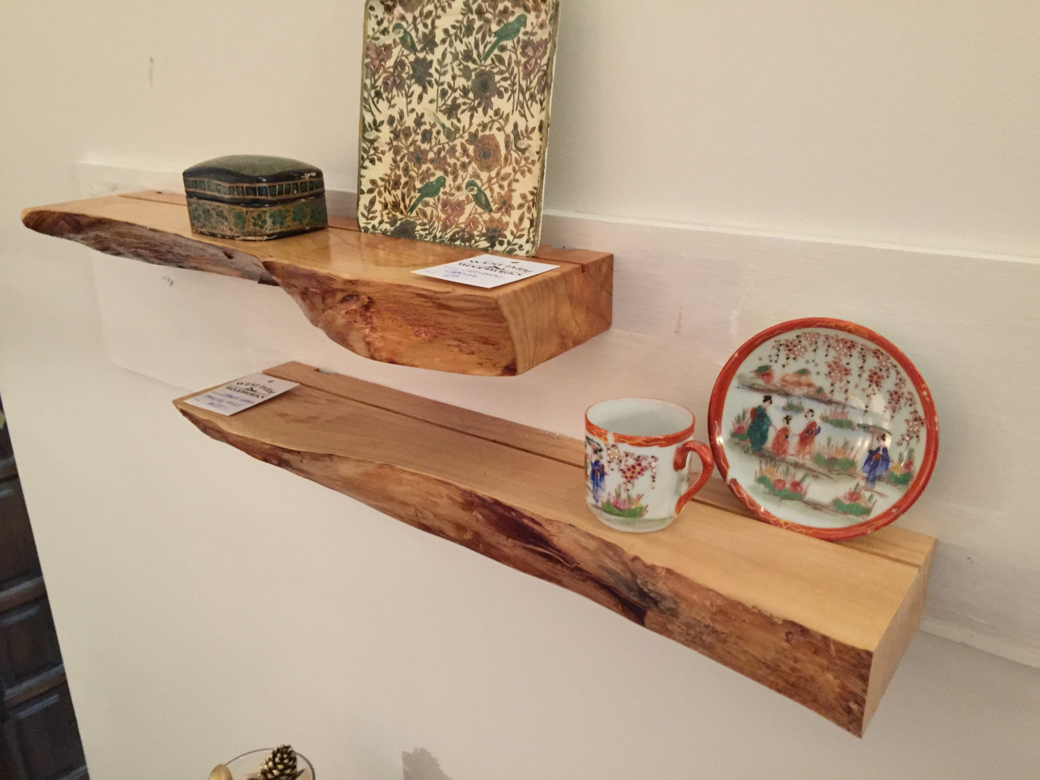floating shelf with live edge by westfarmwoodwork on etsy 1