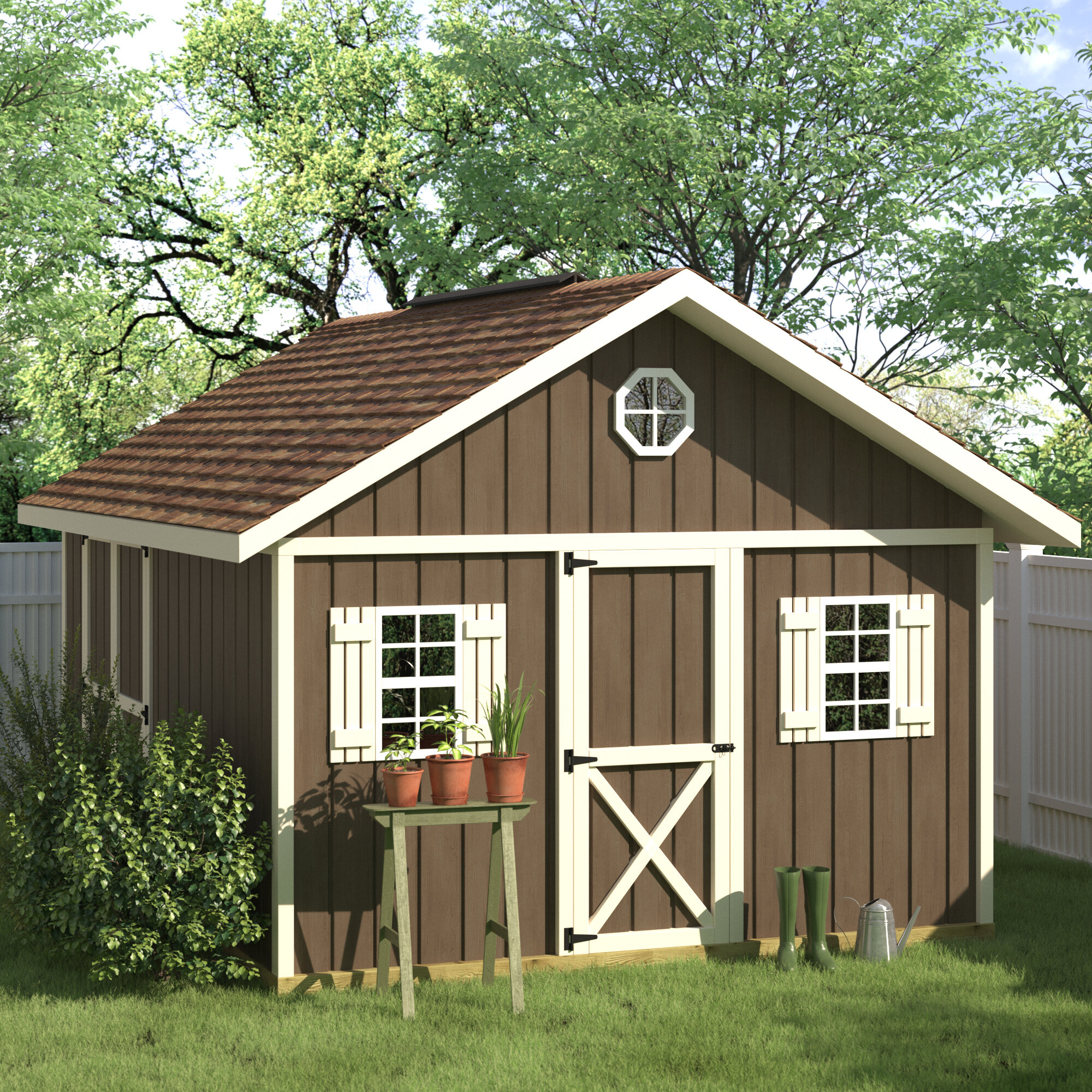 Fir Spruce Wood Storage Shed