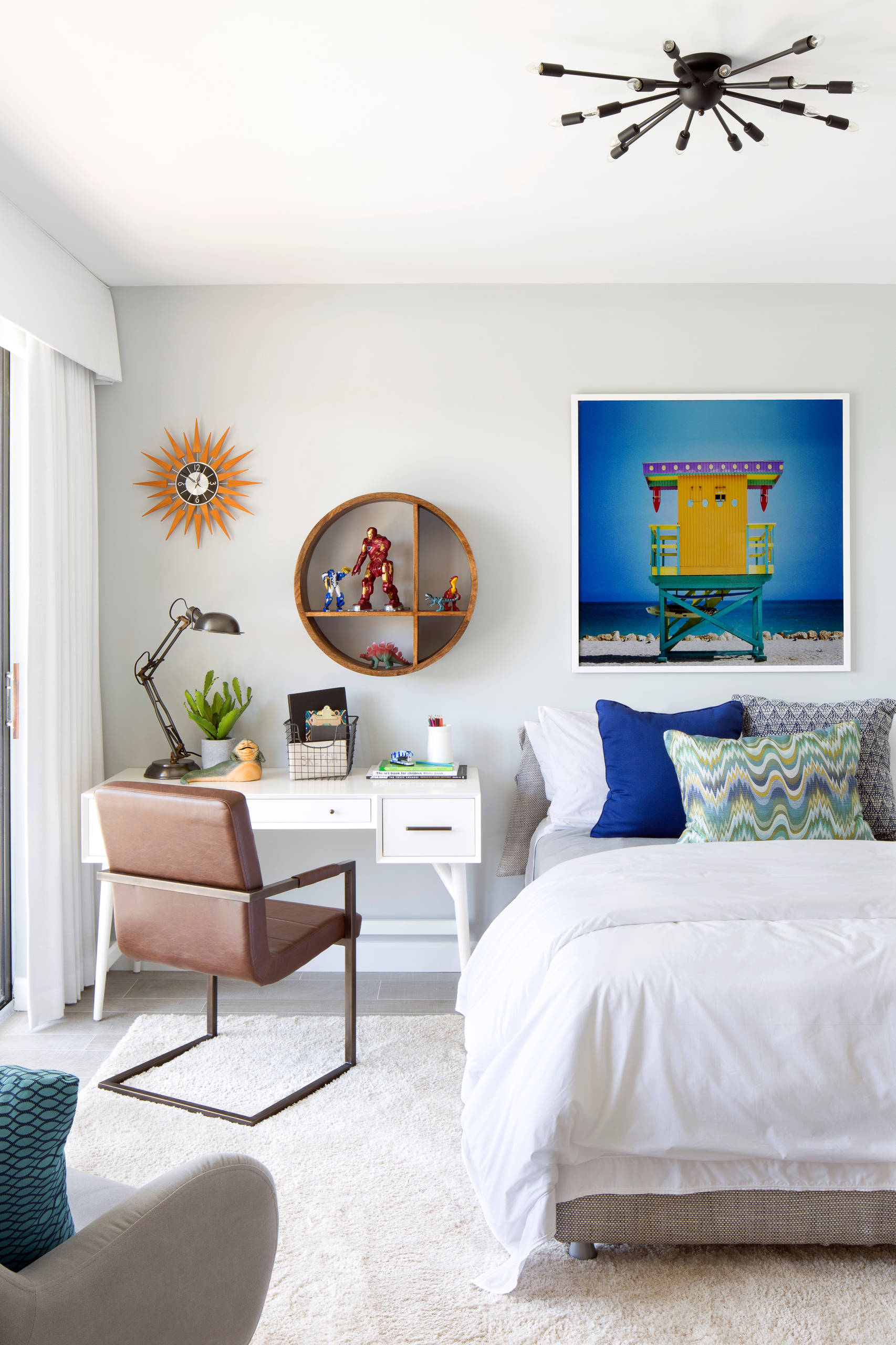 Eclectic bedroom design