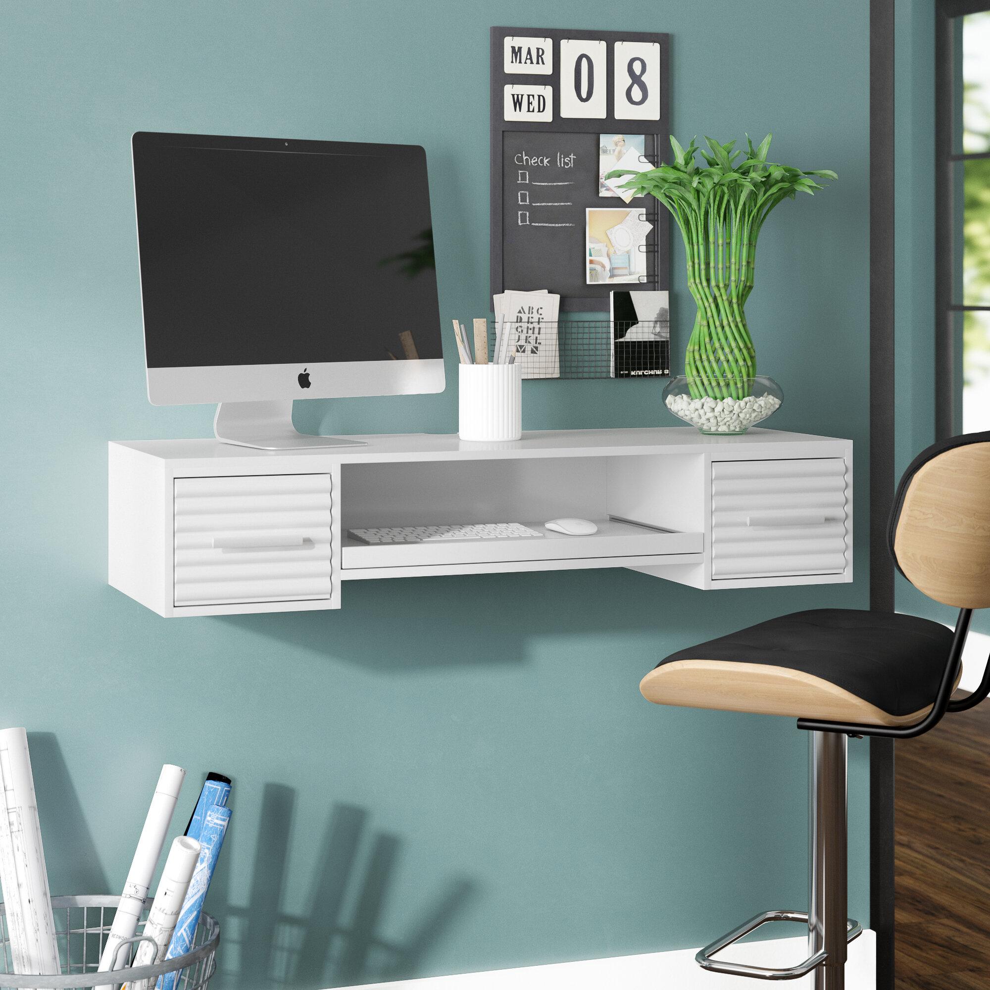 Metal Manufactured Wood Floating Desk