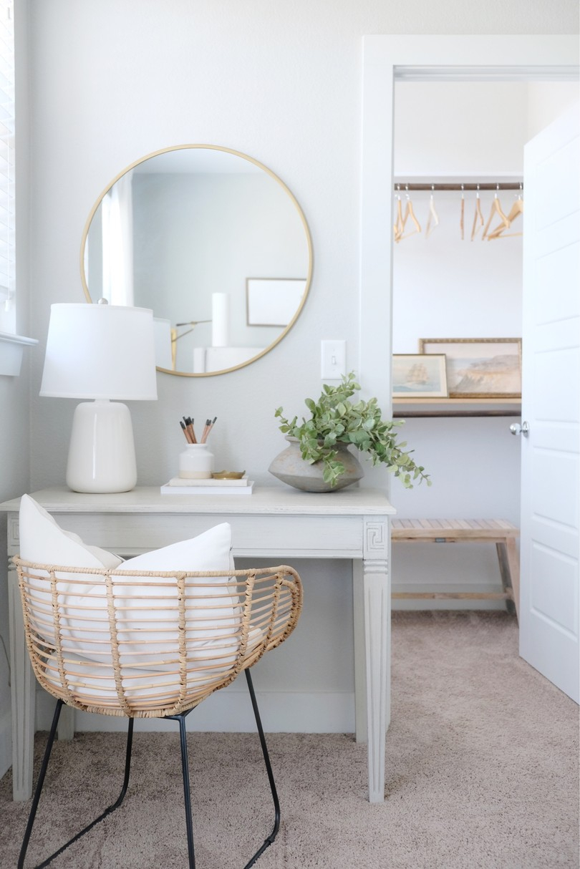 Narrow bedroom desk