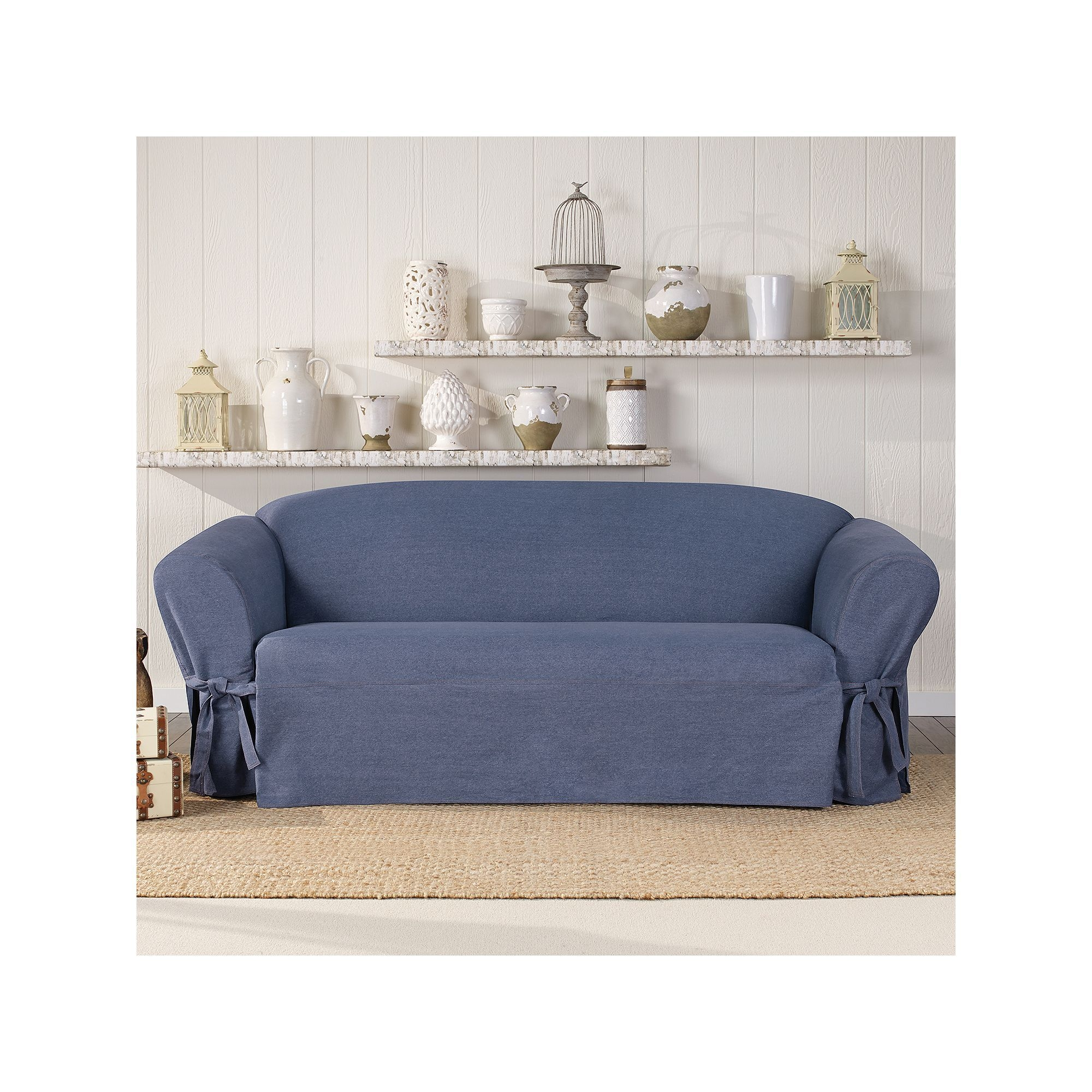 Sectional couch cover slipcover