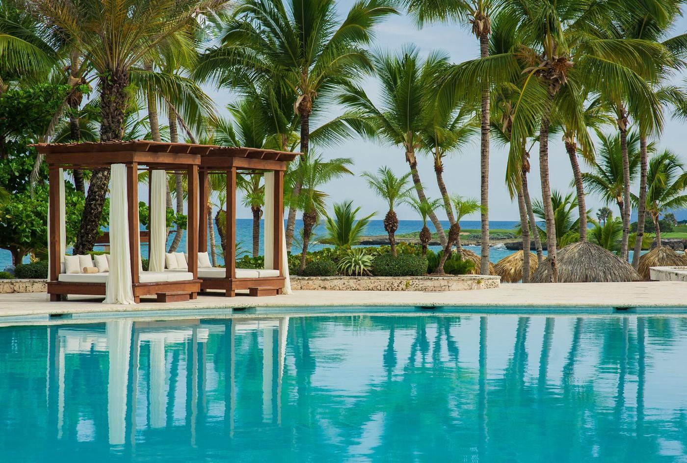 Swimming Pool At Tropical Beach