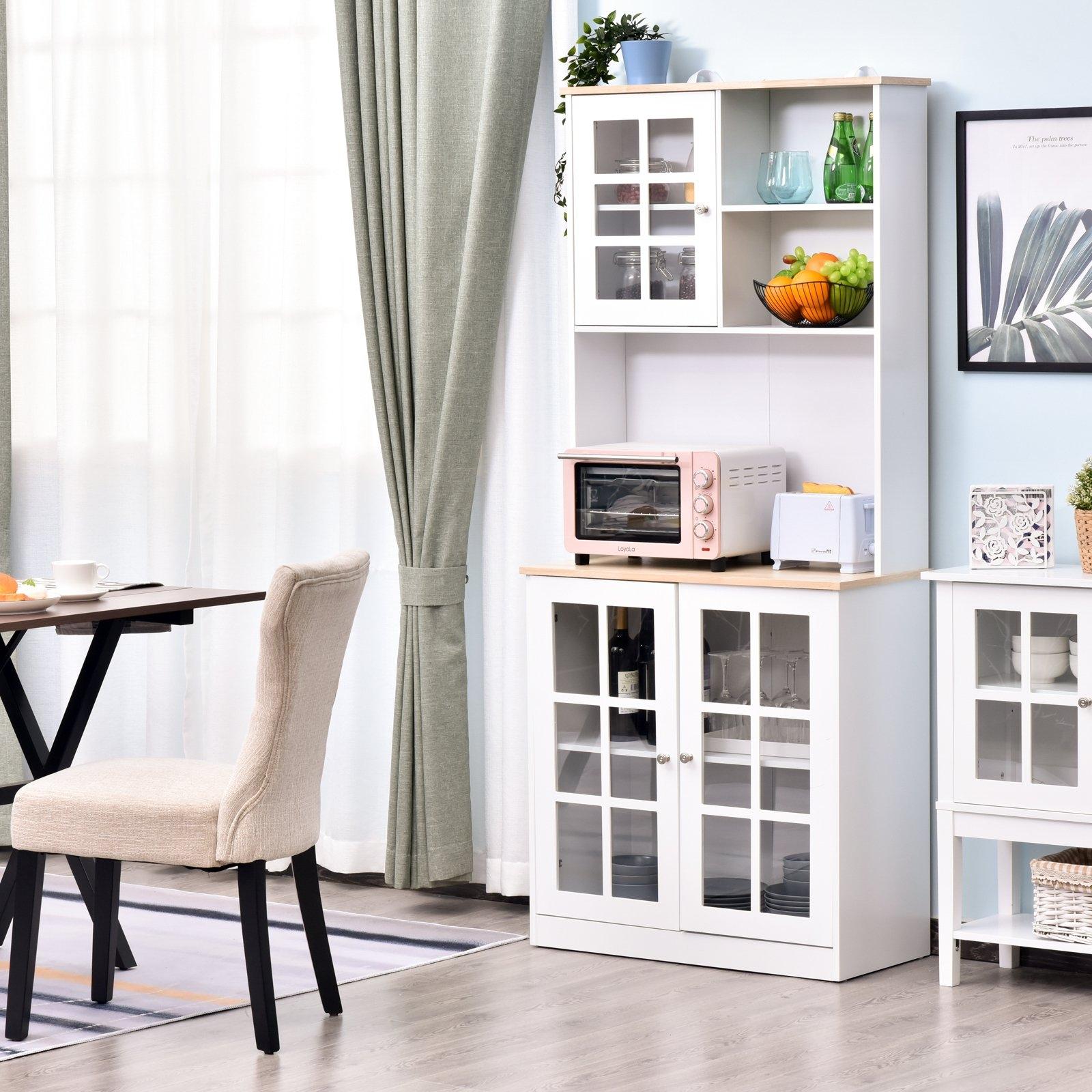 White modern kitchen pantry