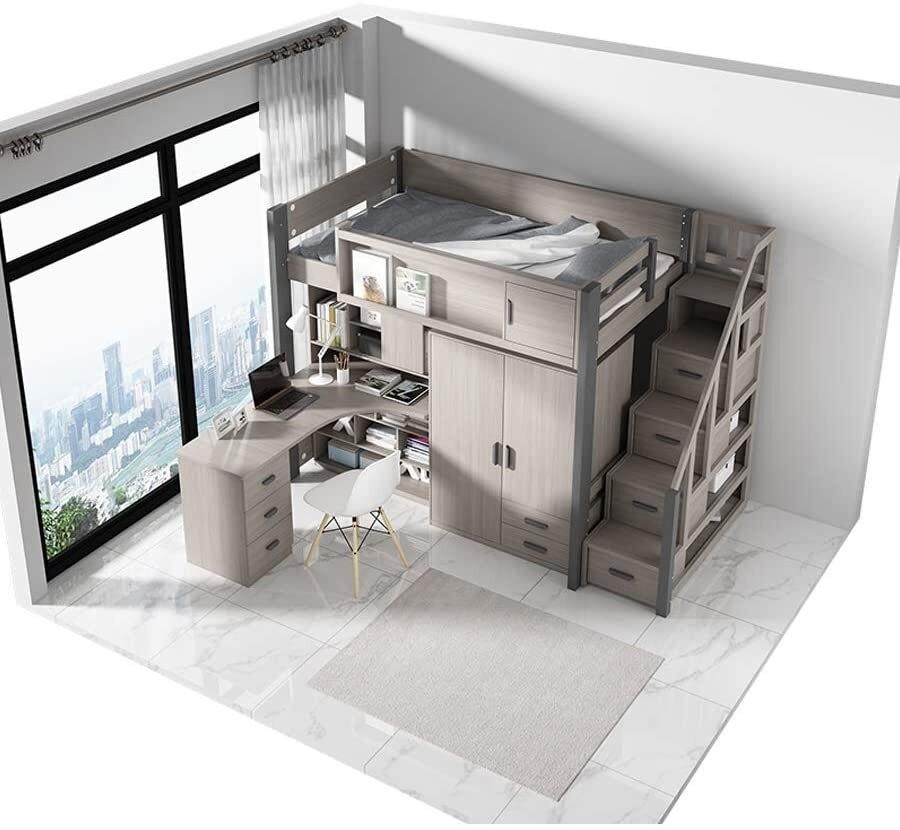 All Inclusive Advanced Wardrobe Loft Bed