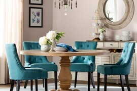 6 beautiful ways to decorate with turquoise dining chairs