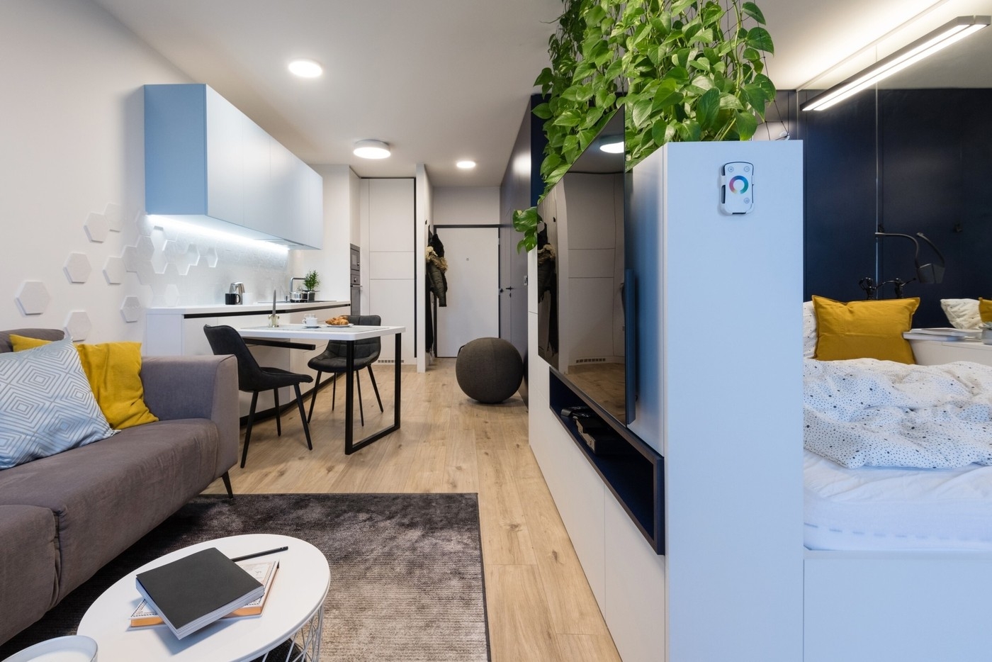 Modern interior of small apartment
