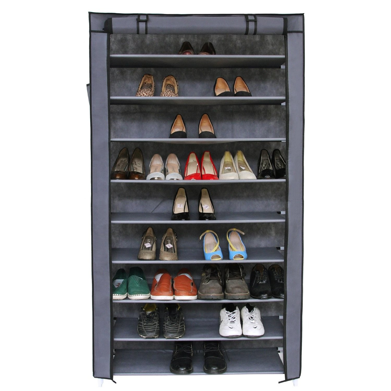 Shoe Cabinet Storage Rack 3 Door 2 Compartment 6 Shelves Home Entryway Organizer